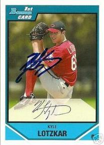 Kyle Lotzkar Signed Cincinnati Reds 2007 Bowman Rookie Card