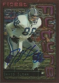 David Sloan Signed Detroit Lions 1996 Topps Finest Card