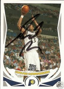 David Harrison Signed Pacers 2004-05 Topps Rookie Card