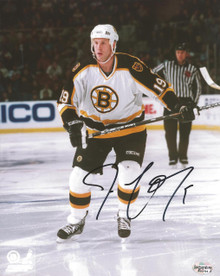 Joe Thornton Autographed Boston Bruins Road 8x10 Photo