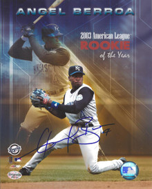 Angel Berroa Autographed Kansas City Royals ROY 8x10 Photo