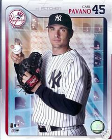 Carl Pavano Unsigned New York Yankees Studio 8x10 Photo