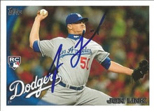 Jon Link Signed Dodgers 2010 Topps Update Rookie Card