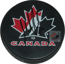 Martin Brodeur Autographed Team Canada Hockey Puck Devils