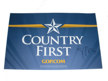 Sarah Palin Autographed 2008 Country First Campaign Sign