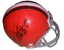 Terrance West Autographed Cleveland Browns Mini Helmet