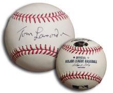 Tommy LaSorda Autographed Official Major League Baseball Dodgers