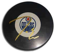 Jordan Eberle Autographed Edmonton Oilers Hockey Puck