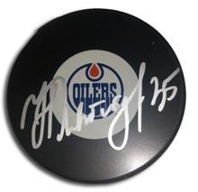 Nikolai Khabibulin Autographed Edmonton Oilers Hockey Puck