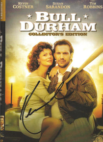 Kevin Costner Autographed Bull Durham DVD Movie Cover