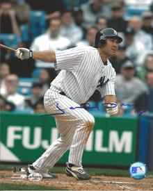 Johnny Damon Autographed New York Yankees 8x10 Photo