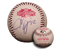 Jason Kipnis Autographed 2015 All Star Game Baseball Cleveland Indians
