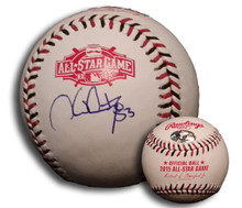 Hector Santiago Autographed 2015 All Star Game Baseball Los Angeles Angels