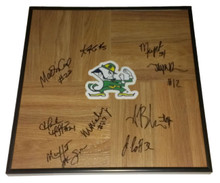 2013-2014 Notre Dame Lady Irish Women Team Signed Framed Floorboard
