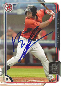 Rafael Devers Autographed Boston Red Sox 2015 Bowman Card