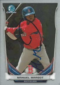 Manuel Margot Autographed Boston Red Sox 2014 Bowman Chrome Card