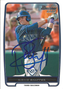 Richie Shaffer Autographed Tampa Bay Rays 2012 Bowman Rookie Card