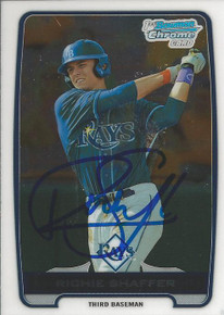 Richie Shaffer Autographed Tampa Bay Rays 2012 Bowman Chrome Rookie Card