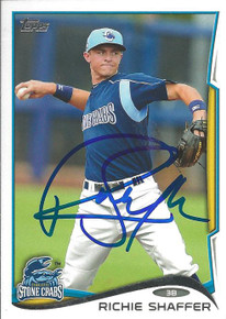 Richie Shaffer Autographed Tampa Bay Rays 2014 Topps Pro Debut Card