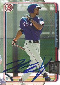 Nick Williams Autographed Texas Rangers 2015 Bowman Card