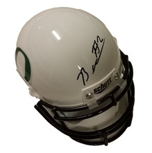 Bralon Addison Autographed Oregon Ducks White Mini Helmet