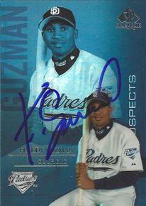 Freddy Guzman Autographed San Diego Padres 2004 UD SP Prospects Card