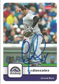 Luis Gonzalez Autographed Colorado Rockies 2006 Fleer Card