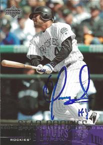 Luis Gonzalez Autographed Colorado Rockies 2004 Upper Deck Rookie Card