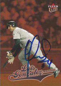 Luis Gonzalez Autographed Colorado Rockies 2004 Fleer Ultra Rookie Card