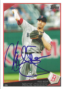 Nick Green Autographed Boston Red Sox 2008 Topps Update Card