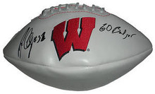 John Clay Signed Wisconsin Badgers Logo Football