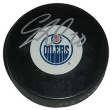 Eric Belanger Signed Edmonton Oilers Hockey Puck