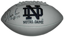 Dayne Crist Signed Notre Dame Irish Logo Football