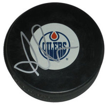 Anton Lander Signed Edmonton Oilers Hockey Puck