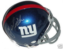 Y.A. Tittle Signed New York Giants Mini Helmet