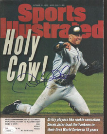 Derek Jeter Signed Sports Illustrated Holy Cow Yankees 10/21/96 JSA