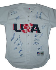 2000 Team USA Men's Olympic Baseball Team Signed Jersey
