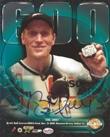 Brett Hull Autographed Dallas Stars 600 Goals 8x10 Photo