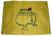 Nick Faldo Signed 2010 Masters Tournament Golf Pin Flag