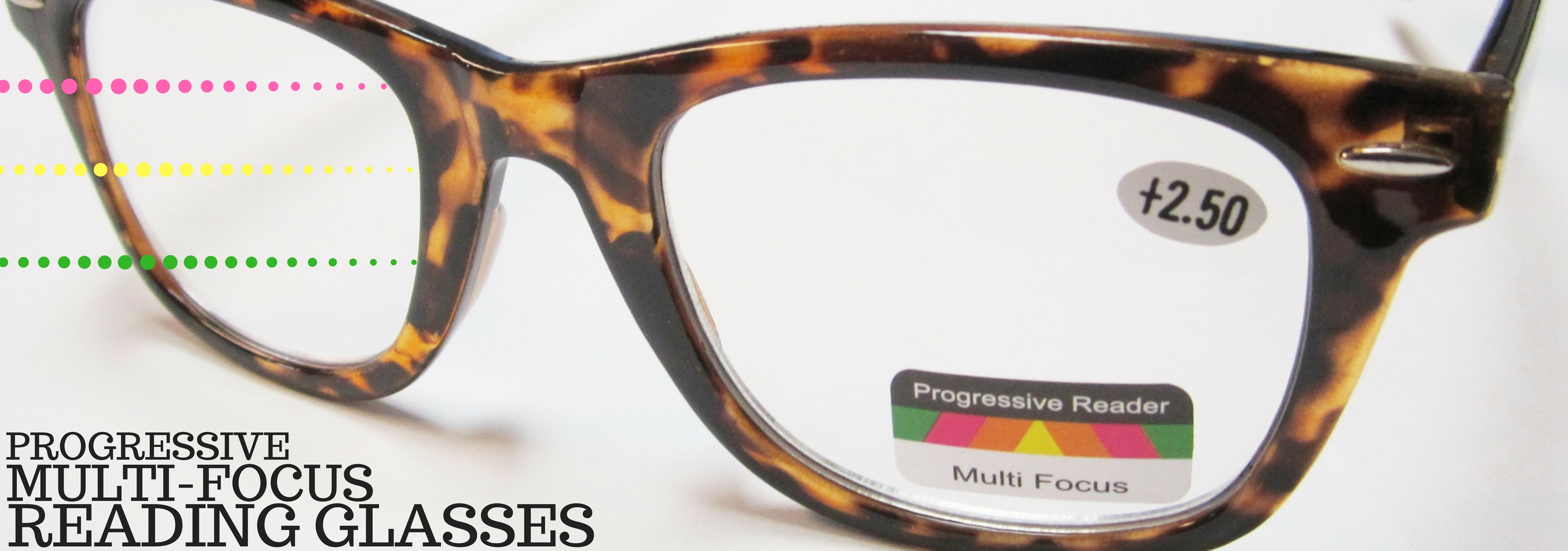 Progressive reading glasses