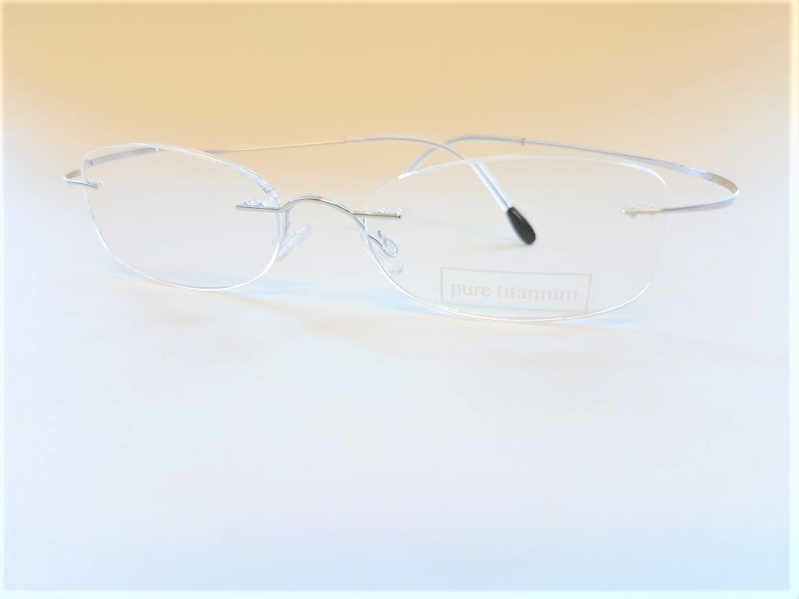 27db8953d58 Rimless Silver Titanium Reading Glasses - AMERICAN READING GLASSES