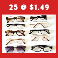 Reading Glasses Assorted Styles For Men and Women at $1.49