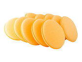"4.5"" Optimum Yellow Foam Applicator (10-pack) - carcareshoppe.com"