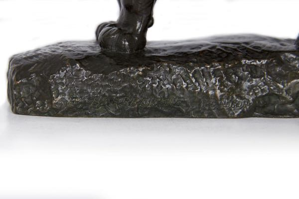 Barye Panther Bronze Sculpture by Barbedienne