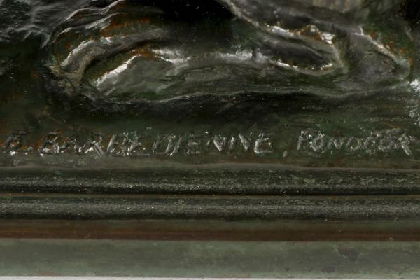 Bronze Sculpture of Barbedienne Barye Foundry Mark