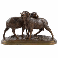 Isidore Bonheur (French, 1827-1901) Antique Bronze Sculpture of Sheep