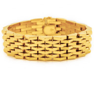 18K Solid Yellow Gold Flexible-Link Bracelet