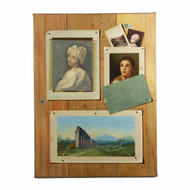 Trompe d'Oeil of Portrait Paintings and Landscape by Francesco Alegiani