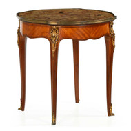 French Louis XV Style Parquetry and Ormolu Gueridon Table c. 1900