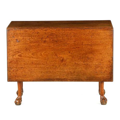 English George II Walnut Ball and Claw Drop Leaf Table